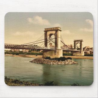 Puente colgante sobre el Rhone, Aviñón, Provenc Alfombrilla De Ratones