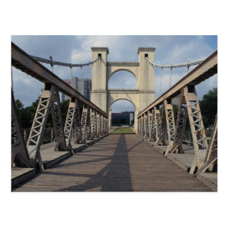 Puente colgante viejo, sitio histórico de Waco, Tarjeta Postal