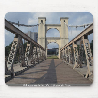 Puente colgante viejo, sitio histórico de Waco, Te Mouse Pads