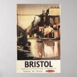 Puente colgante y barcos de Clifton Poster