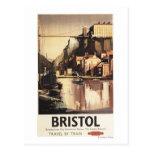 Puente colgante y barcos de Clifton Tarjeta Postal