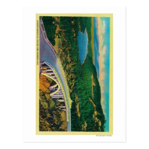 Puente conmemorativo de Donner y Tarjeta Postal