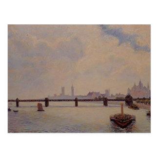 Puente cruzado de Camilo Pissarro- Charing, Londre Postal