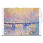Puente cruzado de Charing de Claude Monet Tarjeta De Felicitación