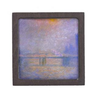 Puente cruzado de Charing, el Thames 02 de Claude Caja De Regalo De Calidad