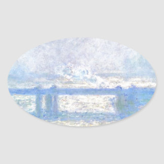 Puente cruzado de Charing, tiempo cubierto de Pegatina Ovalada