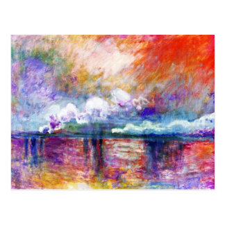 Puente cruzado de Claude Monet Charing Postal