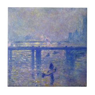 Puente cruzado de Monet Charing Azulejo Cuadrado Pequeño