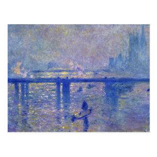 Puente cruzado de Monet Charing Tarjetas Postales