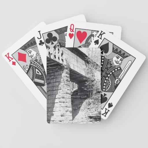Puente cubierto baraja cartas de poker