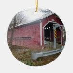 Puente cubierto, Brigham, Quebec - ornamento Ornamento Para Arbol De Navidad