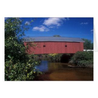 Puente cubierto Carleton New Hampshire Tarjeta De Felicitación