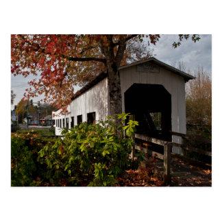 Puente cubierto centenario arboleda de la cabaña tarjeta postal