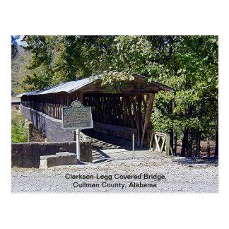 Puente cubierto de Clarkson-Legg Tarjeta Postal