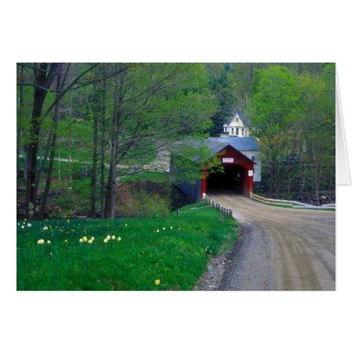 Puente cubierto de Guilford Vermont Felicitaciones
