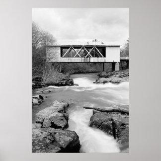 Puente cubierto de Jordania Póster