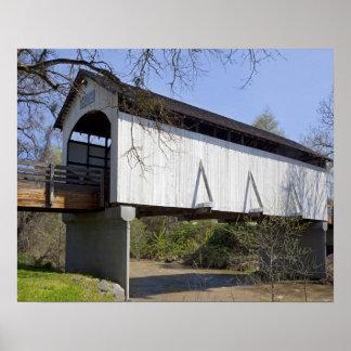 Puente cubierto de la cala del antílope, construid póster