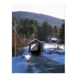 Puente cubierto de la pizarra, Swanzey NH Postales