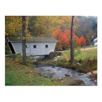 Puente cubierto de las caídas de Kent Tarjetas Postales