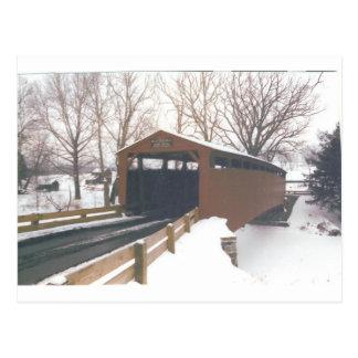 Puente cubierto de los molinos de Belces Tarjeta Postal