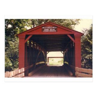 Puente cubierto de los molinos de Belces Postal