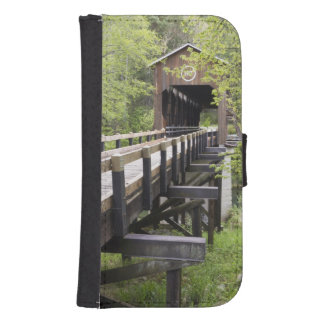 Puente cubierto de McKee, Jacksonville, Oregon Fundas Cartera Para Teléfono