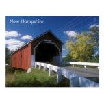 Puente cubierto de New Hampshire Carleton Tarjeta Postal