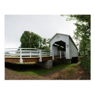 Puente cubierto de Parvin Tarjeta Postal
