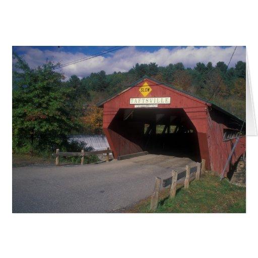 Puente cubierto de Taftsville Vermont Felicitacion