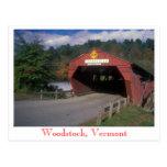 Puente cubierto de Taftsville, Woodstock, Vermont Postales