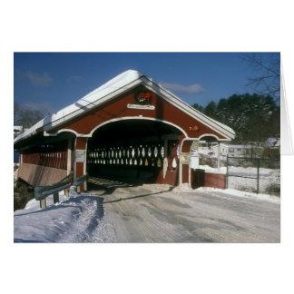 Puente cubierto de Thompson en el invierno, Tarjeta De Felicitación