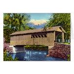 Puente cubierto de Vermont Felicitaciones