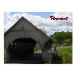 Puente cubierto de Vermont Tarjeta Postal