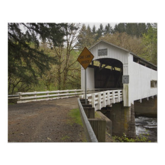 Puente cubierto del gato salvaje, el condado de La Póster