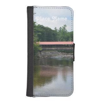 Puente cubierto del norte de Conway Carteras Para Teléfono