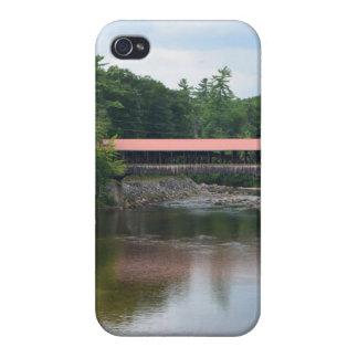 Puente cubierto del norte de Conway iPhone 4 Fundas