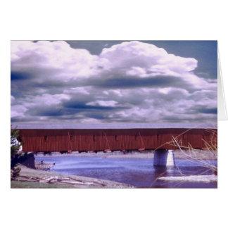 Puente cubierto del oeste de Montrose Tarjeta De Felicitación