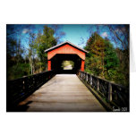 Puente cubierto el condado de Belmont, Ohio Felicitaciones