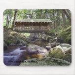 Puente cubierto en el Adirondacks Alfombrillas De Raton