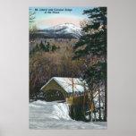 Puente cubierto en el saetín en invierno poster