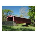 Puente cubierto en Pennsylvania Tarjetas Postales