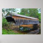Puente cubierto Fryeburg Maine del Hemlock Posters