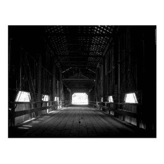 Puente cubierto funcionado con miel Chico Californ Tarjetas Postales