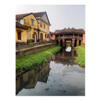 Puente cubierto japonés, Hoi, Vietnam Tarjeta Postal