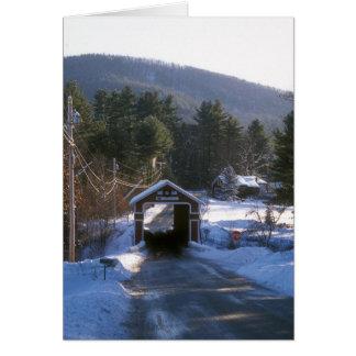 Puente cubierto New Hampshire de la pizarra Tarjeta De Felicitación