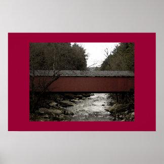 Puente cubierto póster