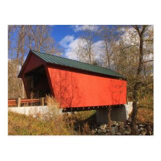 Puente cubierto Randolph del este Vermont de Postal