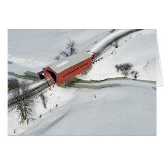 Puente cubierto rojo cerca del parque de Gatineau, Tarjeta De Felicitación