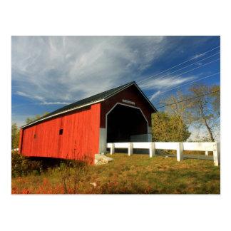 Puente cubierto Swanzey NH de Carleton Postales