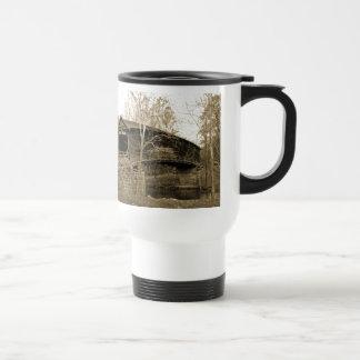 Puente cubierto taza de viaje de acero inoxidable